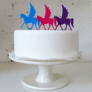 flying unicorn cake topper by miss cake