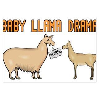 Baby Llama Drama Invitations by helluvashirt