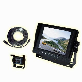 Car Rear View System 5 Inch LCD Monitor Mirror Night Vision Backup Camera for RV, Truck, Trailer, Bus, Fifth Wheel  Vehicle Backup Cameras