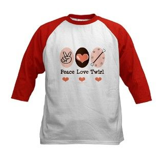 Peace Love Baton Twirling Tee by chrissyhstudios