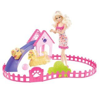 Barbie Puppy Play Park and Barbie Doll Giftset Cute Gift for Everyone Fast Shipping