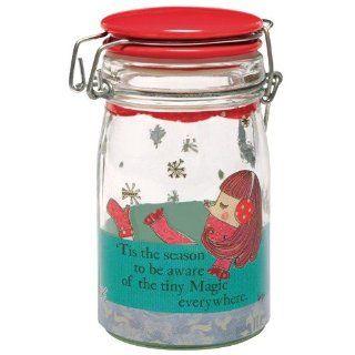 Santa Barbara Design Studio Curly Girl Holiday 9 Ounce Doodad Jar, Magic Everywhere   Decorative Jars