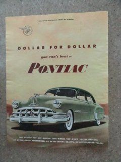 1950 Pontiac Silver Streak, Vintage 50's full page print ad. (beautiful 2 tone green car)Original vintage 1950 Collier's Magazine Print Art.