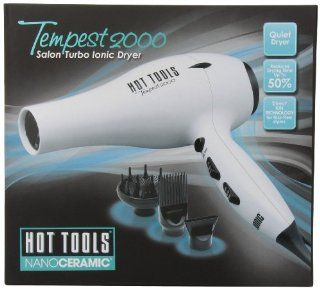 Hot Tools HTBW04 Tempest 2000 Turbo Ionic Dryer, Black/White  Ionizing Hair Dryers  Beauty