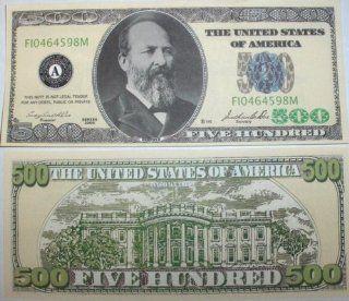 Set of 10 Bills Five Hundred Dollar Bill Toys & Games