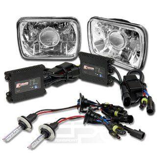 7X6 H6054 CHROME CONVERSION PROJECTOR HEADLIGHT+H4 10000K HID BULB+THIN BALLAST Automotive