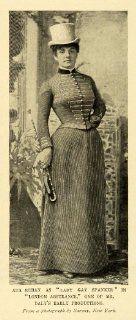 1899 Print American Stage Actress Ada Rehan Lady Gay Spanker London Assurance   Original Halftone Print