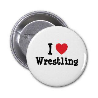 I love Wrestling heart custom personalized Pin