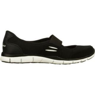 Women's Skechers Gratis Asana Black/White Skechers Flats