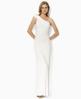Lauren by Ralph Lauren Dress, One Shoulder Jersey Gown   Dresses   Women