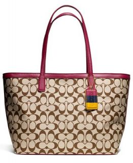 COACH LEGACY WEEKEND ZIP TOP TOTE IN PRINTED SIGNATURE FABRIC   Handbags & Accessories