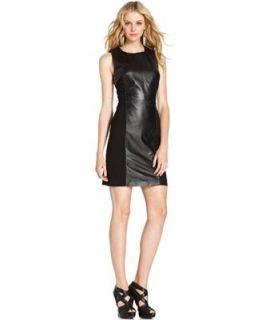 DKNY Jeans Dress, Sleeveless Leather Shift   Dresses   Women