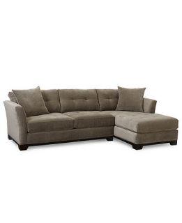 Elliot Fabric Microfiber 2 Piece Sectional Sofa (Apartment Sofa and Chaise)   Furniture