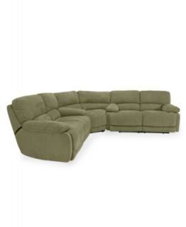 Ricardo Fabric Reclining Sectional Sofa, 3 Piece Power Recliner (2 Sofas and Wedge) 146W x 146D x 38H   Furniture