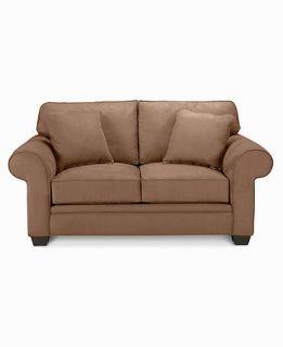 Raja Fabric Microfiber Loveseat, 68W x 38D x 37H : Custom Colors   Furniture