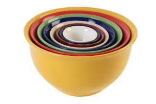 Gibson Sensations 8 Piece Nesting Bowl Set, Rainbow Colors Kitchen & Dining