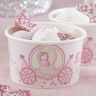 princess party treat / ice cream treat tubs by ginger ray