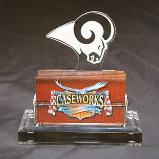 St. Louis Rams NFL Logo Desktop Acrylic Business Card Holder