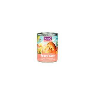 Halo Spot's Stew for Dogs Succulent Salmon Recipe Canned Dog Food (12/13 oz Cans)  Canned Wet Pet Food