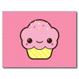 Cute Kawaii Cupcake with Sprinkles Post Card