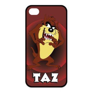 Mystic Zone Customized Taz iPhone 4 Case for iPhone 4/4S Hard Cover cool Cartoon Fits Case KEK0040: Cell Phones & Accessories