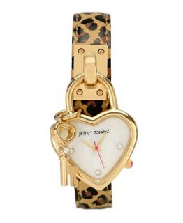 Betsey Johnson Watch, Womens Leopard Print Leather Charm Strap BJ00021 06   Watches   Jewelry & Watches