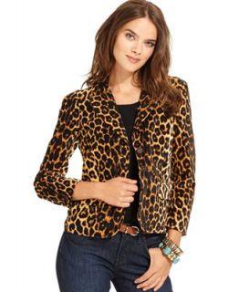 Lucky Brand Jeans Jacket, Kaela Leopard Print Blazer   Jackets & Blazers   Women