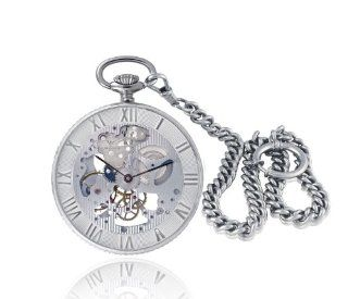 Catorex Men's 183.2.1679.000 Armand Cattin Automatic Sterling Silver Roman Numerals Exhibition Pocket Watch: Watches