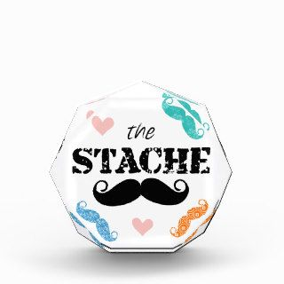 The Stache Mustache Retro Hipster Acrylic Award