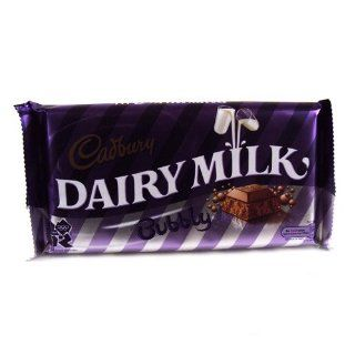 Cadburys Dairy Milk Bubbly 181g  Candy And Chocolate Bars  Grocery & Gourmet Food