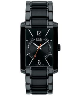 ESQ Movado Watch, Mens Swiss Synthesis Black Ion Plated Stainless Steel Bracelet 30mm 07301411   Watches   Jewelry & Watches