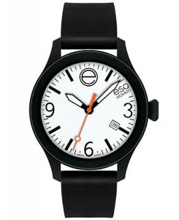 ESQ Movado Watch, Unisex Swiss ESQ One Black Silicone Strap 43mm 07301437   Watches   Jewelry & Watches