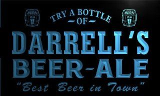 pn165 b Darrell's Best Beer Ale in Town Bar Pub Neon Light Sign