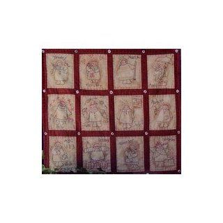 Plum Creek Collectibles Embroidery Quilt Pattern 161 Annie's Calendar Quilt