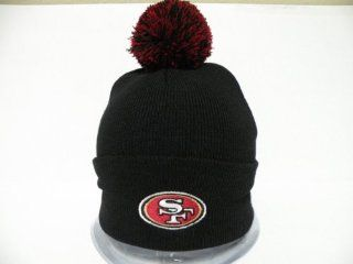 Authentic NFL San Francisco 49ers Logo Retro Black Toque Pin Pin Beanie Cap : Sports Fan Baseball Caps : Sports & Outdoors