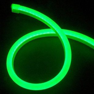 142.08' Pre Cut LED Neon 2 Wire 120 Volt Green Rope Light   String Lights