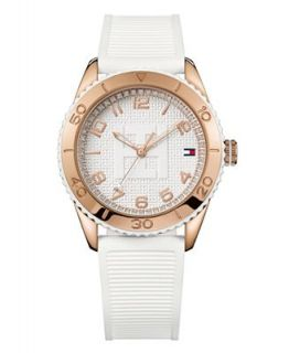 Tommy Hilfiger Watch, Womens White Silicone Strap 1781121   Watches   Jewelry & Watches