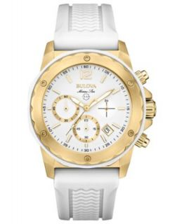 Citizen Womens Chronograph Drive from Citizen Eco Drive White Leather Strap Watch 46mm AT2232 08A   Watches   Jewelry & Watches