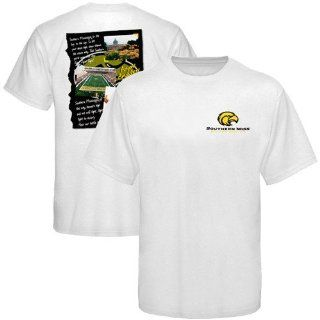 Southern Miss Golden Eagles White Fight Song T shirt (Medium)  Sports & Outdoors