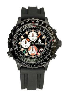 Chase Durer Men's 126 4BW RUBB Pilot Commander ll Black I Watch at  Men's Watch store.