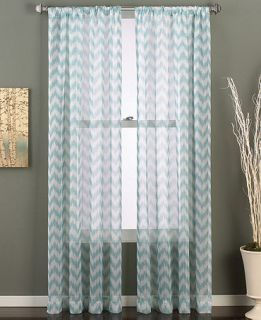 CHF Chevron Print 50 x 84 Pole Top Panel   Sheer Curtains   For The Home