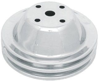 CSI C9600 Chrome Plated Steel Water Pump Pulley, Single Groove Short Water Pump, Upper, Chevy Small Block 283 350 Engines Automotive