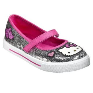 Girls Hello Kitty Sequin Mary Jane Shoes   Silver