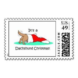 Funny Christmas Dachshund Postage