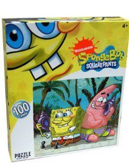 Nickelodeon SpongeBob Squarepants Listening to Sea Shells 100 piece puzzle Toys & Games