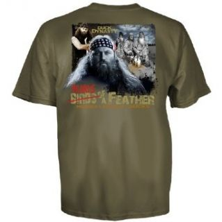 Club Red Duck Dynasty Willie Robertson Beards of a Feather T Shirt: Clothing