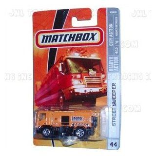 2008 2009 Matchbox STREET SWEEPER truck City Action Series 4 of 13 #44 YELLOW ORANGE: Toys & Games