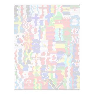 Wavy Flag Wallpaper Montage Personalized Letterhead