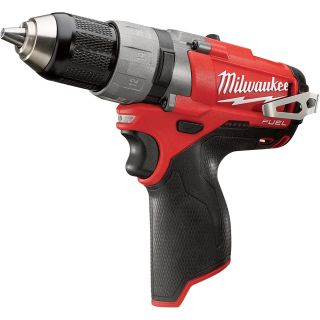 Milwaukee M12 FUEL Cordless Drill/Driver — Tool Only, 1/2in. Chuck, 12 Volt, Model# 2403-20  Cordless Drills