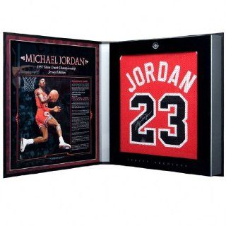 Michael Jordan Autographed Chicago Bulls 1986 87 Away/Red Jersey   Jersey Archives Box: Sports Collectibles